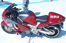 Red Hayabusa at Bonneville (left side, top)